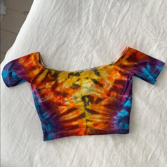 Tops - Tie dye off the shoulder